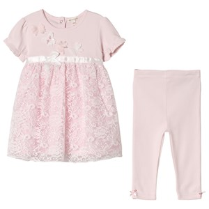 Image of Mintini Baby Pink Dress and Leggings with Butterfly Detail 18 mdr (3065506877)