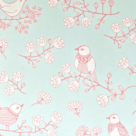 Majvillan Sugar Tree Wallpaper Turquoise Multi