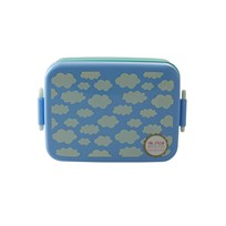 Rice Large Lunchbox with Divider Cloud Print Blue Sand