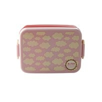 Rice Large Lunchbox with Divider Cloud Print Pink Lyserød