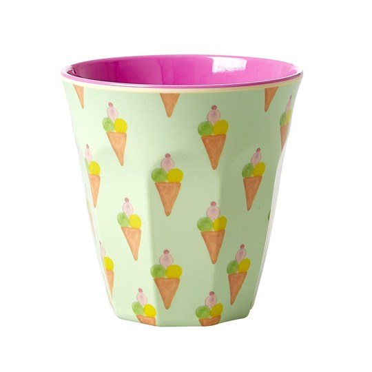 Rice Medium Melaminkopp Ice Cream Print icecream print