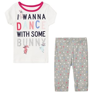 Image of GAP White and Gray I Wanna Dance Spotted Pyjamas 6 (6 Years) (3008597715)