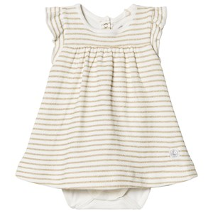 Image of Petit Bateau Baby Body Striped In Gold 1 Month (3009433545)