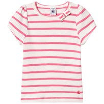 Petit Bateau T-shirt Striped In Pink
