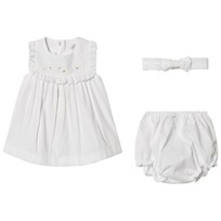 Petit Bateau Onesie Dress Headband And Bloomers