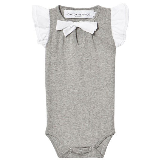 How To Kiss A Frog Body Wings Short Sl Grey Black