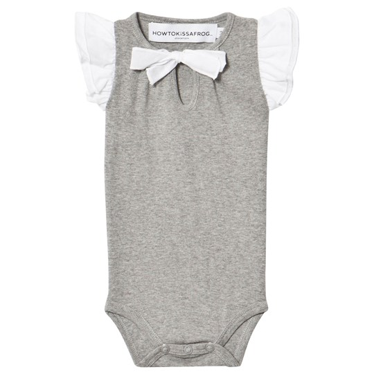 How To Kiss A Frog Wings Baby body Grå Grey