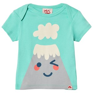 Image of Tootsa MacGinty Green Mountain Face Print Tee 0-6 months (3009434343)