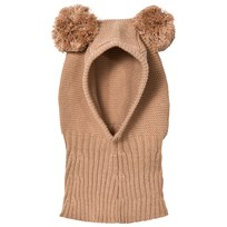 Huttelihut Pom Pom Balaclava Light Brown Light brown