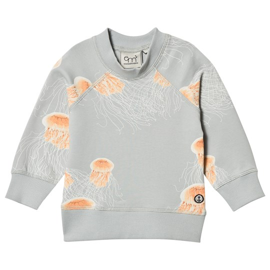 Emma och Malena Manet Baby Sweater Grey Manet