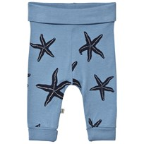 Emma och Malena Starfish Baby Tights Blue Blue