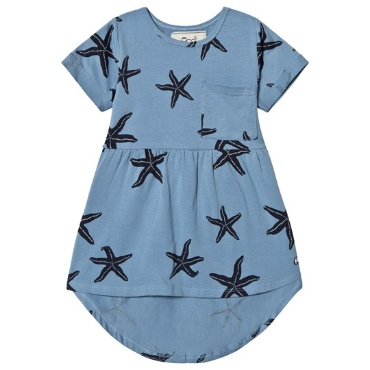 Emma och Malena Bea Starfish Dress Blue Blue