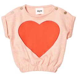 Blune Embroidered Heart Sweater Mandarine