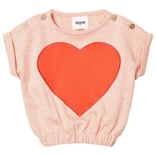 Blune Embroidered Heart Sweater Mandarine Mandarine