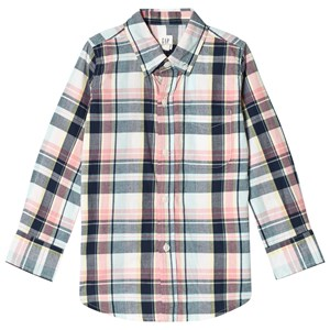 Image of GAP Check Shirt In Navy S (6-7 år) (3009435441)