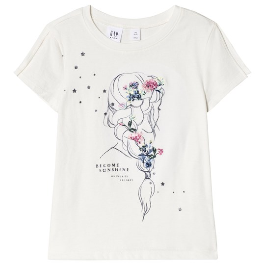 GAP Girl Print Tee In New Off White NEW OFF WHITE