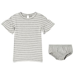 GAP Grey Striped Dress And Bloomers Set