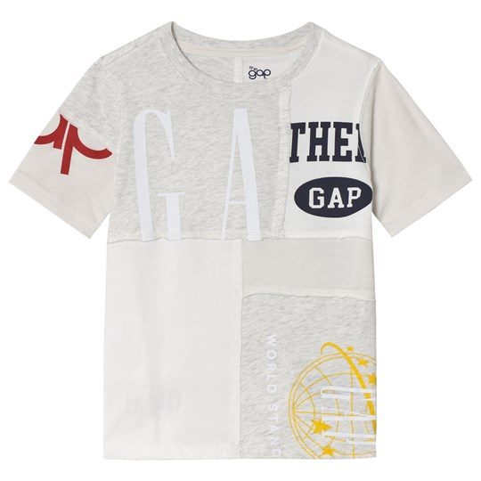 GAP Screen Print Logo T-Shirt New Off White NEW OFF WHITE