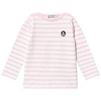 Petit Bateau Pink And White Long Sleeved T-shirt Striped