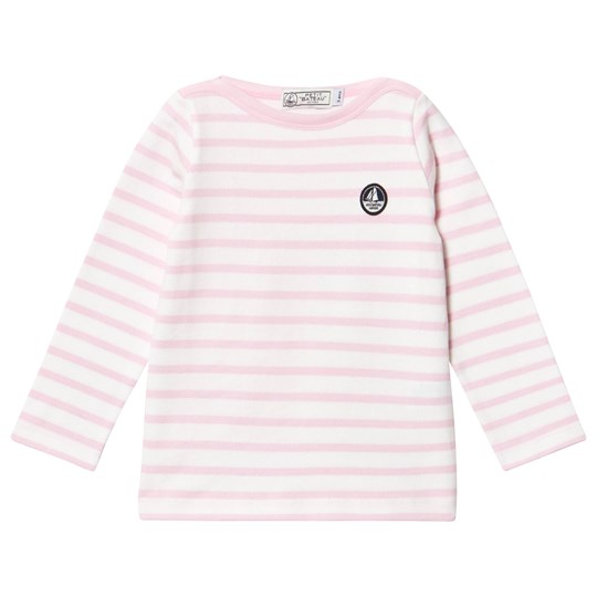 Petit bateau pink and white long sleeved t shirt striped for Petit bateau striped shirt