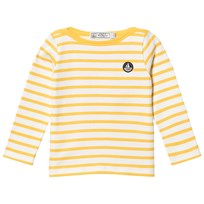 Petit Bateau Yellow Long Sleeved T-Shirt Striped