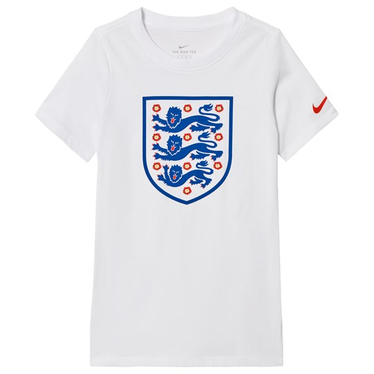 NIKE White Evergreen Crest England Short-Sleeve Tee 100