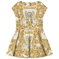 Young Versace White Baroque Print Dress Y4006