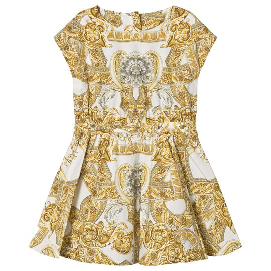 Versace White Baroque Print Dress Y4006