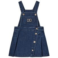Young Versace Denim Branded Overalls Dress Y3907