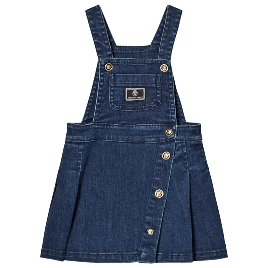 Versace Denim Branded Overalls Dress Y3907
