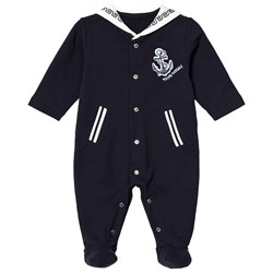 Versace Navy Sailor Style Footed Baby Body