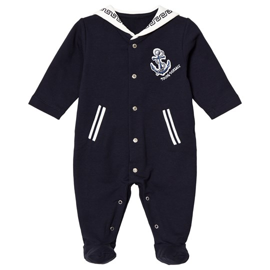 Versace Navy Sailor Style Footed Baby Body Y3577