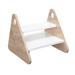 Bloomingville Rubberwood Stool Wood and White