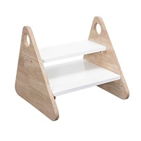 Bloomingville Rubberwood Stool Wood and White White