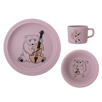 Bloomingville Joan Bamboo Serving Set Rose Multi
