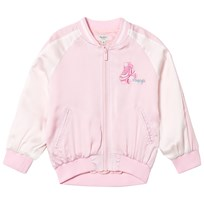 Pepe Jeans Pink Ava Embroidered Satin Bomber Jacket 327