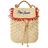 Pepe Jeans Straw Branded Pom Pom Backpack 08A