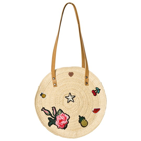 Pepe Jeans Embroidered Straw Round Bag 08A