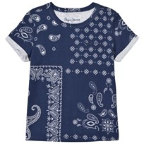 Pepe Jeans Navy Paisley Print T-Shirt 561