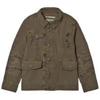Pepe Jeans Khaki Western Camo Patch Shirt Jacket 716