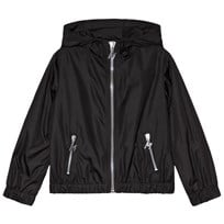 MSGM Black Logo Hooded Windbreaker 110