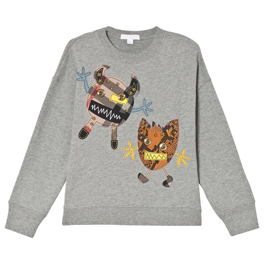 Burberry Grey Melange Monster Applique Sweatshirt Grey Melange