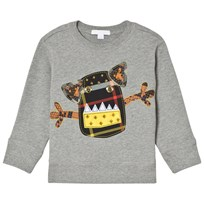 Burberry Grey Monster Applique Sweatshirt Grey Melange
