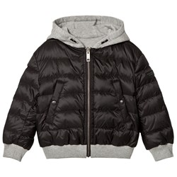Burberry Reversible Down-Filled Hooded Puffer Jacket Black and Grey