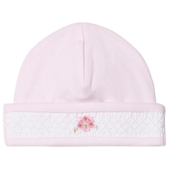 Kissy Kissy Pink Smocked Hand Embroidered Beanie Hat PK