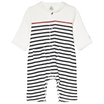 Petit Bateau White Striped Nautical Baby Body