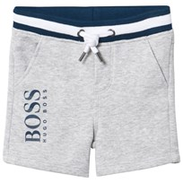 BOSS Grey Marl Branded Sweat Shorts A89