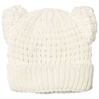 United Colors of Benetton Knit Beanie Hat with Ears White White