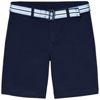 Ralph Lauren Navy Chino Shorts with Belt 001
