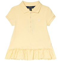 Ralph Lauren Yellow Pique Polo with Eyelet Hem 002
